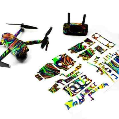 Psychedelic Drone Skin Wrap for DJI Mavic 2 Pro and Mavic 2 Zoom Drone Accessories Australia with Print out View
