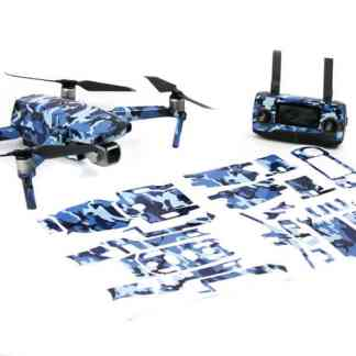 Camoflauge Blue Mavic 2 Series Drone Accessories Australia Drone Skin Wrap with print out