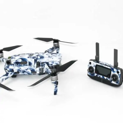Crystal Skull Drone Skin Wrap for DJI Mavic 2 with Remote Side View