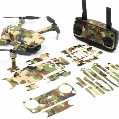Camo Green Drone Skin Wrap Stickers for DJI Mavic Mini Front View with Print Out