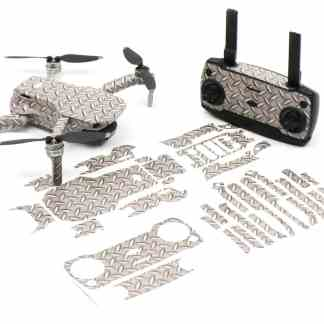 Diamond Plate Drone Skin Wrap Stickers for DJI Mavic Mini Front View with Print Out