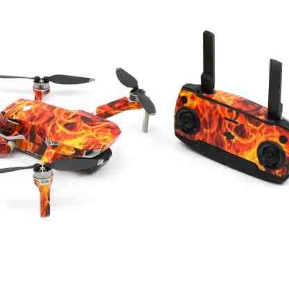 Fire n Flames Drone Skin Wrap Stickers for DJI Mavic Mini Front View