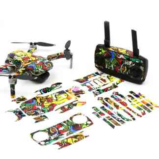 Graffiti Drone Skin Wrap Stickers for DJI Mavic Mini Front View with Print Out