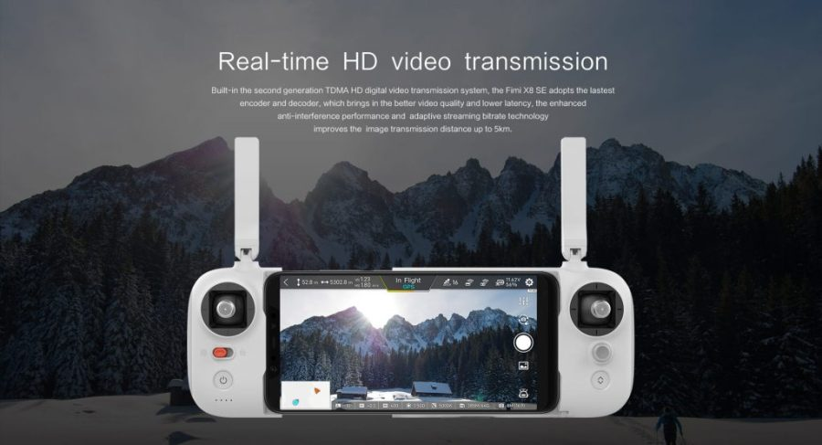 Xiaomi FIMI-X8 SE video transmission