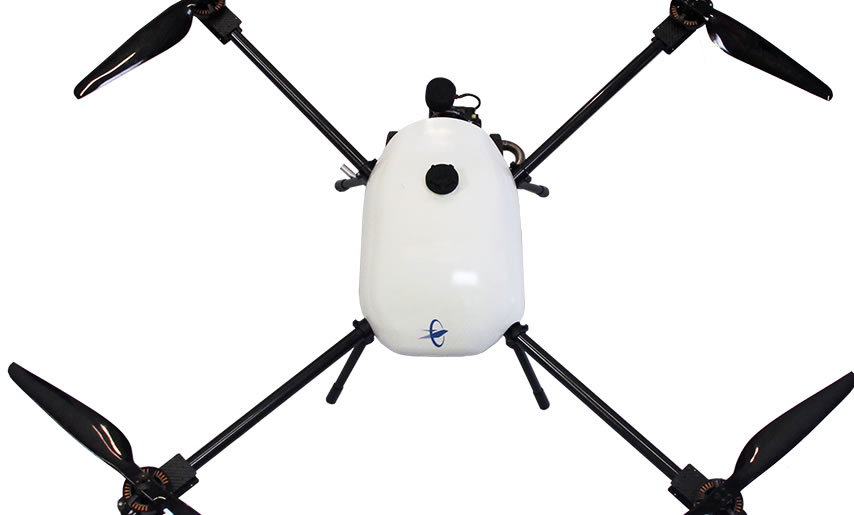THE TAILWIND hybrid gasoline-electric quadrotor
