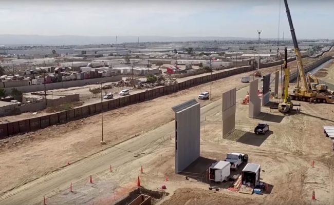 Drone Footage Of Trump S Border Wall Prototypes On Us