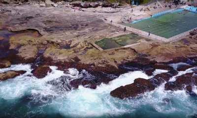 Dee Why Tidal Pool Drone Shot Sydney Australia