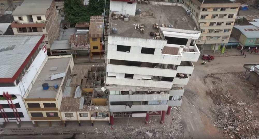 Ecuador Earthquake Drone Disaster Response