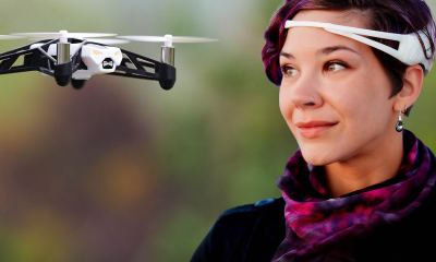Parrot Rolling Spider Drone Emotiv Brain Interface