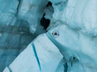 Flyability Elios in a Glacier