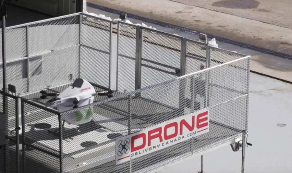 DroneSpot (TM) provides secure take off and landing