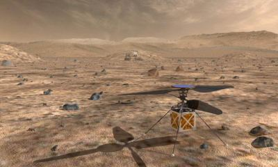 An artist's illustration of the robotic 'copter that could travel on the Mars2020 mission | NASA/JPL-Caltech