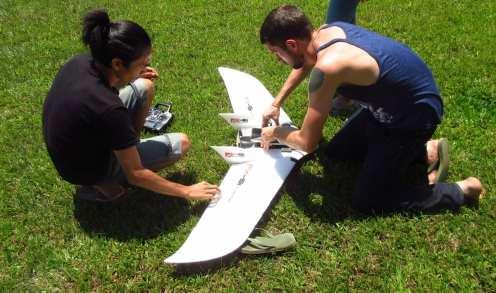 Preparing the drone for flight | Hornbill Surveys