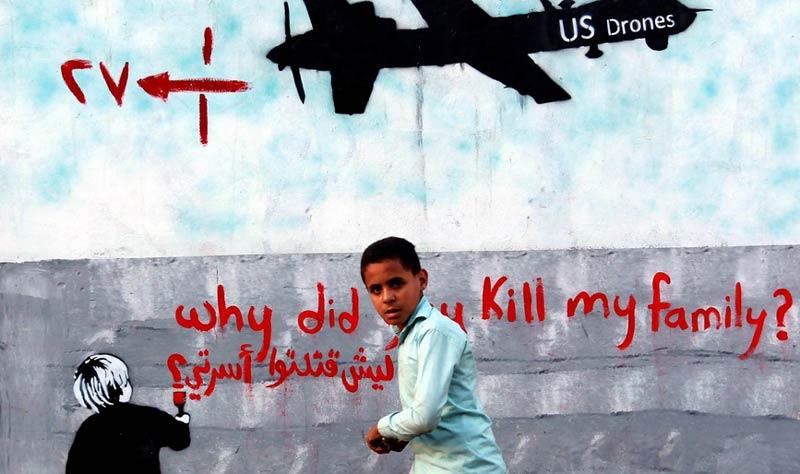 US Drone Strike Graffiti