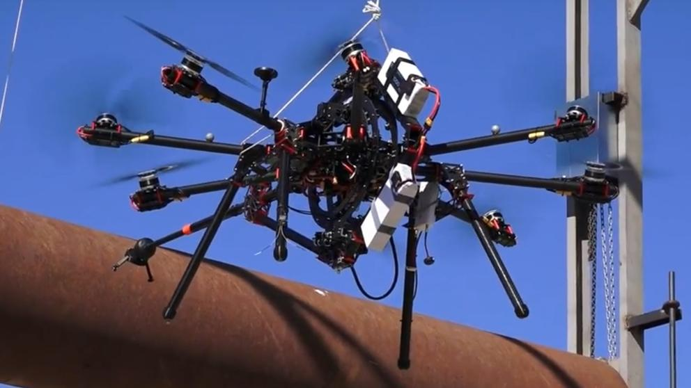 Prototype of the drone with robotic arms developed in Spain