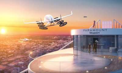 A passenger drone lands on the Miami Paramount World Center | Youtube