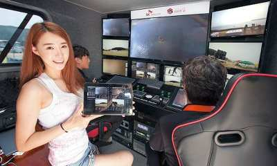 A video disaster rescue system that combines SK Telecom's ultra-small-scale video live-streaming equipment and specialist drone | SK Telecom