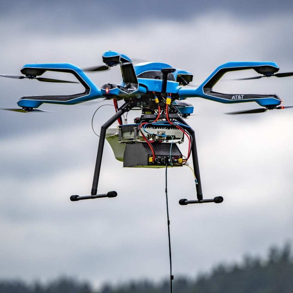 A tethered Flying COW drone | AT&T