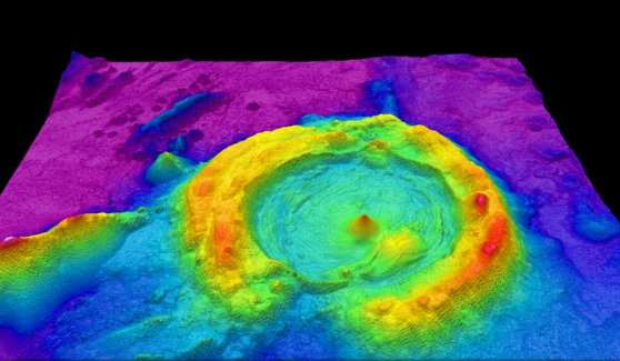 gh-resolution multibeam lidar map showing spectacularly faulted and deformed seafloor geology, in shaded relief and coloured by depth | Wikicommons/NOAA