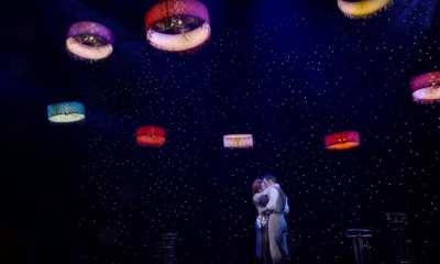 Verity drones lfy in Cirque de Soleil's Paramour show
