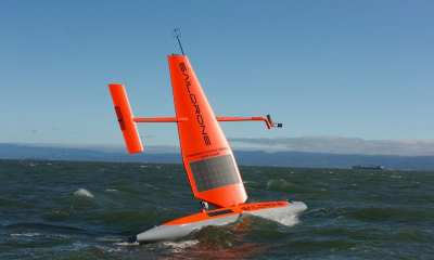 Saildrones in the pacific ocean