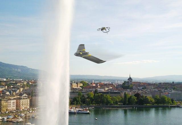 Drones flying over Geneva | Skyguide