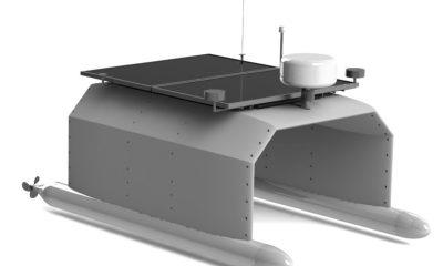 A rendering of Tridentis AMV's Autonomous Coastal MonitorAu