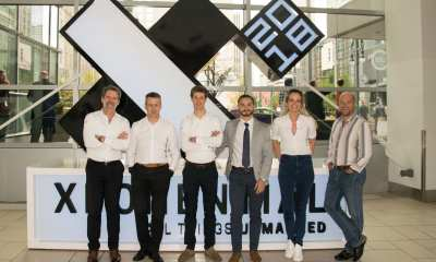 Pictured from left to right: Marc Kegelaers (Unifly), Marc Coen (Unifly), Laurent Huenaerts (Unifly), Sasha Bilous (Aeronyde), Ellen Malfliet (Unifly) and Eric Acton (Aeronyde)