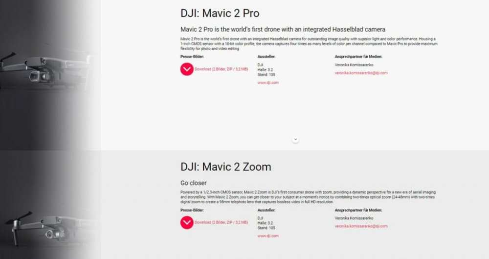 DJI Mavic 2 Pro/Zoom press release