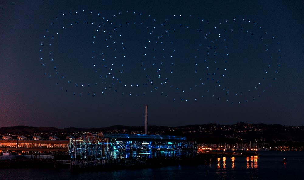 Audi drone llight show