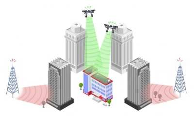 Drones boost cell tower transmission