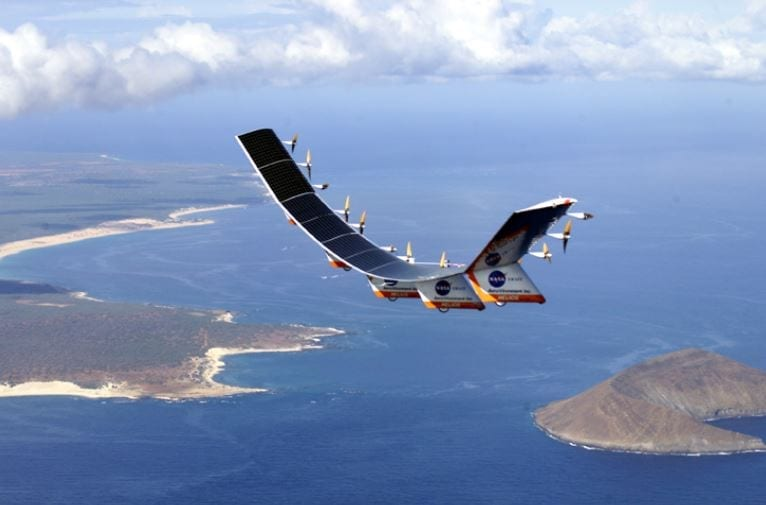 Solar-hydrogen powered Helios UAV equipped with photovoltaic solar cells