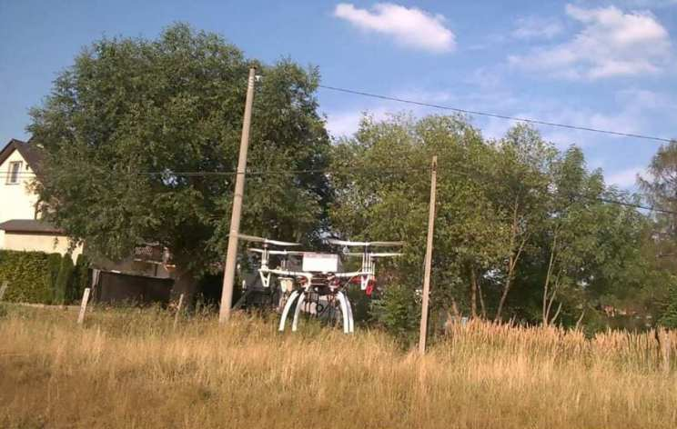 Robot during operation in navigation mode - a trip from point to point