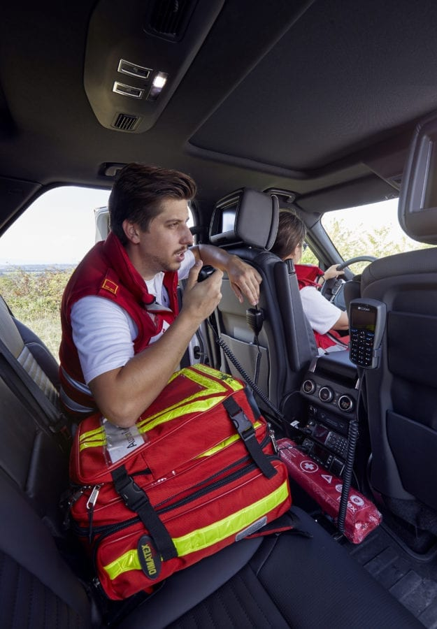 Land Rover Equipped with Drone Joins Red Cross