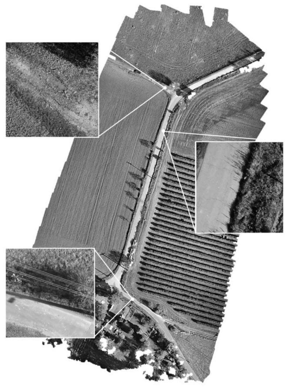 Orthoimage (40 m, 1 cm2/Px) (own figure)