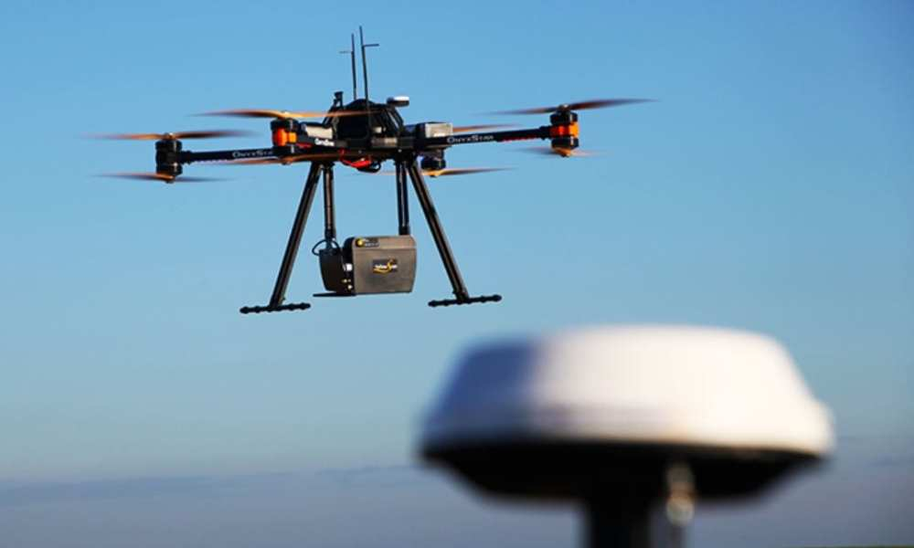 ommercial Drone with Aerial Mounted LIDAR [source: Cargyrak , Wikimedia Commons, accessed 4/29/2018]