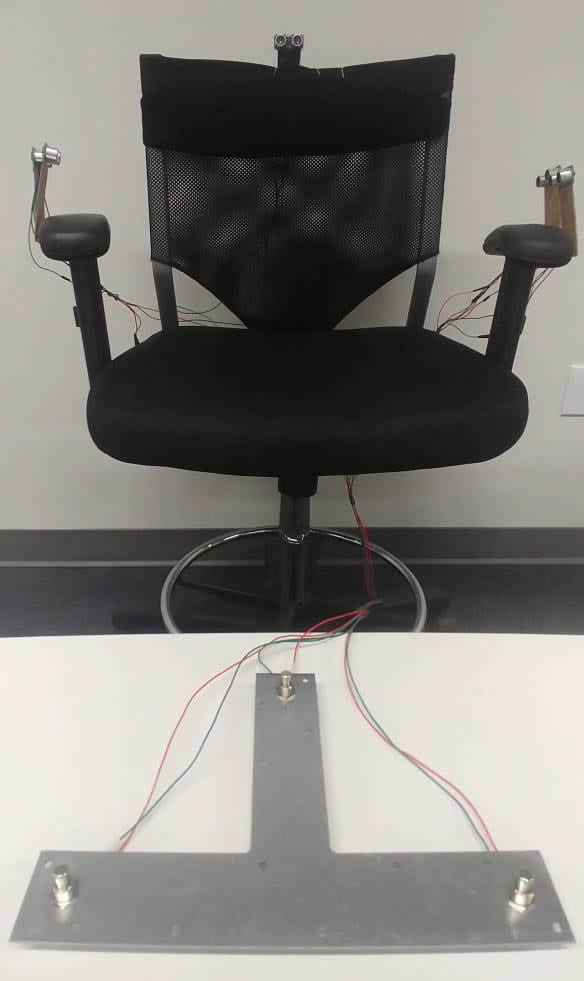 Flight Chair with the T-shaped foot pedal