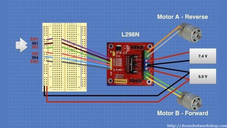L298 Motor Control Module Experiment 4