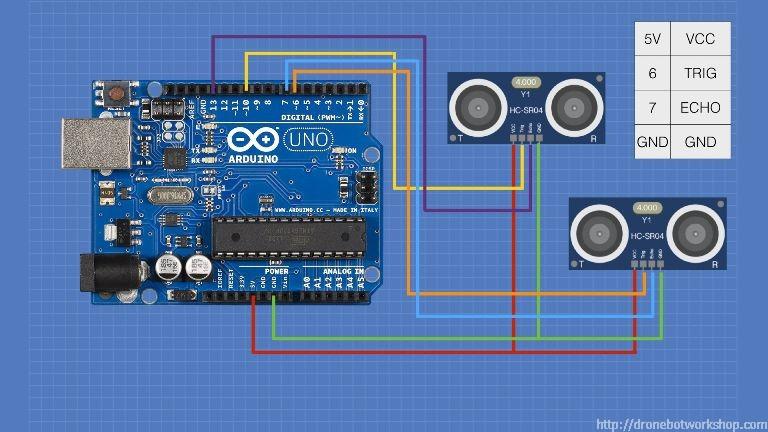 hc sr04 ultrasonic distance sensor with arduino dronebot workshopCircuit Combines An Arduino Microcontroller With An Ultrasonic Sensor #4