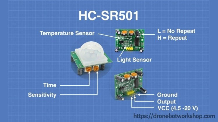HC-SR501 with Arduino & Raspberry Pi | DroneBot Workshop
