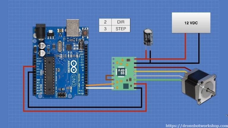 stepper motors with arduino dronebot workshop rh dronebotworkshop com