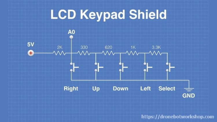 LCD Keypad Shield Buttons