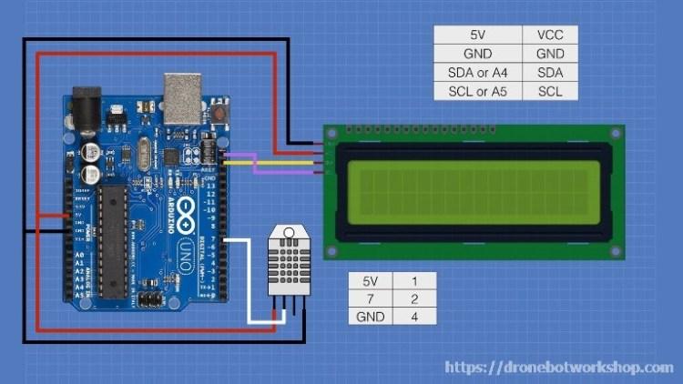 LCD Temperature Humidity Hookup