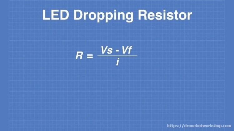 LED Dropping Resistor Formula
