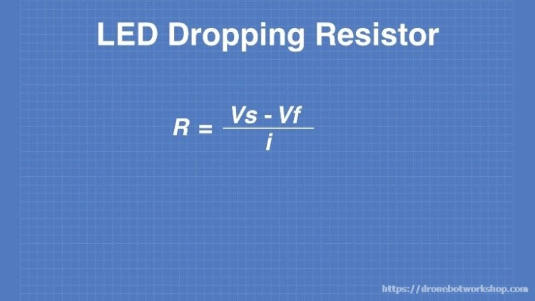 LED Dropping Resistor Formula