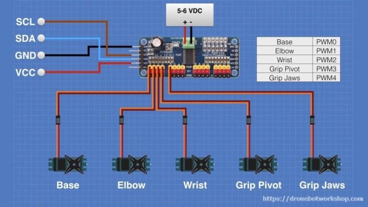Controller Hookup - PCA9685