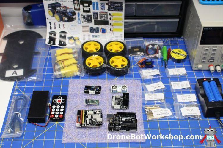 Elegoo Smart Robot Car Kit Parts