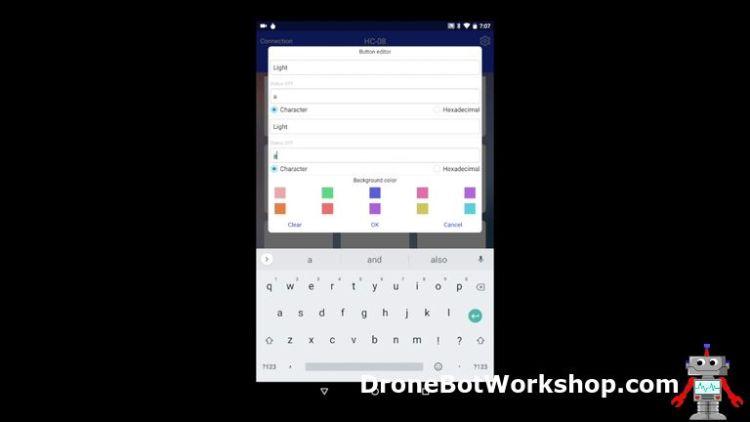 Elegoo Bluetooth App Button Editor