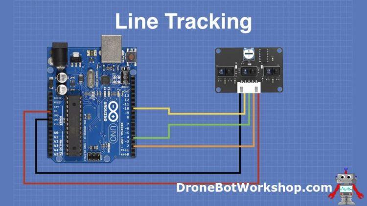 Line Tracking Sensor hookup with Arduino