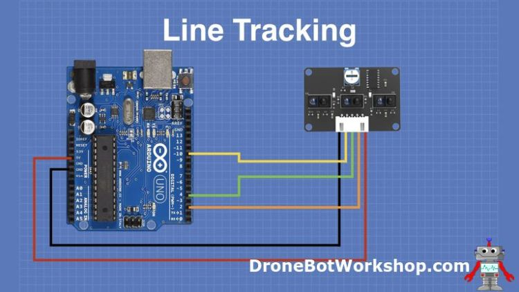 Line Tracking Sensor hookup with Arduino